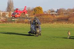 North West Air Ambulance & RAF Puma (QSY on-route) Tags: city 2 manchester airport force air royal 330 barton sa puma 230 westland hc 1120 ec135 sqn aerospatiale egcb xw214 gnwae 23112014