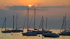 Sunset at harbour of Bardolino (daantjedoest) Tags: sunset italy lake boats lago garda harbour di bardolino