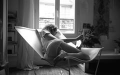 An island of silence (leica version) (theknightwhosaysniii) Tags: leica paris film girl analog reading king bokeh sleep belleville x summicron mm tri 35 m6
