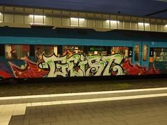 GEIST (mkorsakov) Tags: white train graffiti zug bahnhof colored geist hbf weiss bunt mnster westfalenbahn rb66