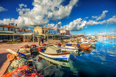 Iskele, Urla (Nejdet Duzen) Tags: trip travel holiday reflection turkey boat harbour yacht türkiye iskele sandal yat izmir liman tatil yansıma turkei seyahat urla