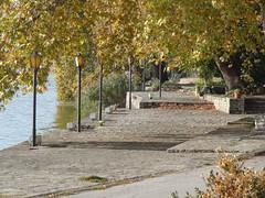 Kastoria lake Macedonia Greece Autumn (omirou56) Tags: autumn trees light lake reflection nature shadows hellas greece macedonia timeless kastoria makedonia
