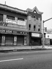 North and Druid Hill (amy hit the atmosphere) Tags: urban blackandwhite abandoned architecture md ruins decay maryland baltimore westside innercity storefronts urbanism blight rowhouses northave bmore northavenue rowhomes westbaltimore baltimorecity druidheights druidhillave bmorecity