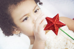 Through a Child's Eyes (Javcon117*) Tags: christmas red holiday girl beautiful children wonder star mixed eyes dof child wand magic think memories depthoffield thinking through wish browneyes biracial magical contemplate contemplating wishing multiracial 2014 frosthouse javcon117 frostphotos amarifrost