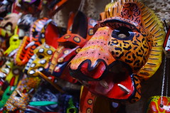 Mask, Antigua Guatemala, Guatemala (ARNAUD_Z_VOYAGE) Tags: world street city santiago sky people cloud sun mountain color building bus green heritage cars church nature colors beautiful fog architecture clouds america spectacular de landscape volcano la town site los highlands amazing ruins view natural guatemala capital centro colonial central churches unesco well antigua spanish huge preserved volcanoes baroque region volcanic moutains department centrale municipality departmental caballeros volcn influenced volcanism sacatepquez