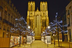 2014-12-19  Reims - Cathédrale (P.K. - Paris) Tags: christmas december illuminations noël guirlande décembre 2014