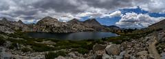 Panorama of the western part of Evolution Lake (speedcenter2001) Tags: california outdoor hiking sierra backpacking backcountry wilderness sierranevada jmt highsierra kingscanyon kingscanyonnationalpark johnmuirtrail
