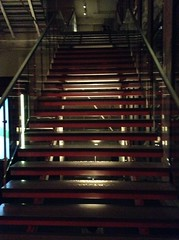 Shiny staircase at SAT in Montreal (Jo E Stan) Tags: stairs montral montreal arts des sat socit escaliers technologiques
