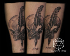 Skull and Quill Black and Grey Realistic Tattoo (13.22 Tattoo Studio) Tags: old uk portrait baby moon west flower colour london eye art clock geometric church girl rose closeup tattoo illustration angel skeleton religious foot japanese skull photo artist ship child hummingbird hand veil heart arm mechanical lotus geometry buddha watch fine feather bigben bio superman line xmen batman pharaoh rib script custom handprint sleeve logos compass gentleman pac dreamcatcher realism chicano coverup realistic triforce sourgrapes eygptian blackandgrey s0urgrapes