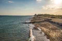 Lepe Of Faith (NVOXVII) Tags: sunset sea sky sun seascape beach nature water walking landscape coast sand nikon waves outdoor dusk horizon hampshire ambient d3200