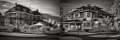 Historic Sisters (mjardeen) Tags: blackandwhite bw white house black building mamiya ir washington 55mm infrared wa tacoma f18 northslope a7ii sekor mamiyasekor55mmf18 niksilverefex a7m2 ilce7m2