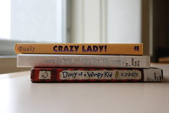 Book pile (Freyapup) Tags: crazy library books goblin wimpy