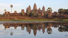 Angkor Wat (asitrac) Tags: travel light sunset lake reflection archaeology nature water architecture spectacular scenery asia cambodia southeastasia angkorwat scene unescoworldheritagesite unesco kh siemreap striking archeology worldheritage indochina splendor  patrimoinemondial siemreapprovince khmerempire angkorarcheologicalpark angkorarchaeologicalpark  asitrac