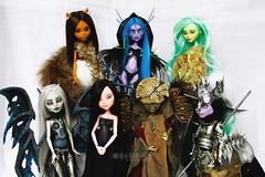 7 dolls (mrs.Melenka) Tags: monster high doll venus dragon ooak cam custom mh rochelle avea repaint clawdeen melenka skelita