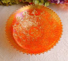Vintage Dugan Carnival Glass Bowl ~ Garden Path ~ Marigold (Donna's Collectables) Tags: carnival glass vintage garden path bowl marigold ~ dugan