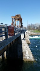 Un Barrage D'Hydro Quebec. 2016-05-11 12:54.37 (Sandbanks Pro) Tags: canada water eau quebec dam structure paysage barrage touristique fleuve hydroquebec fleuvesaintlaurent salaberrydevalleyfield