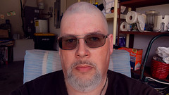 Someone's Stolen My Mohawk! (Hawk 1966) Tags: portrait people haircut me shop self hair myself beard florida sony shaved bald indoor barber shave fl hairless palmbay brevard selfie wx mauricios i wx9 dscwx9