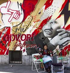 #38 Money (padswift) Tags: streetart money streets graffiti streetphotography slovenia ljubljana flowerseller 1162016 116in2016 38money