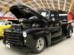 1949 GMC Step Side (crusaderstgeorge) Tags: black sweden side pickup step trucks sverige gmc 1949 sandviken arenawheels crusaderstgeorge 1949gmcstepside