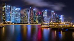 City, Night, Lights (.Randy.) Tags: city nightphotography light panorama night marina bay singapore asia cityscape