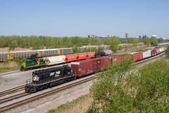 Duelling Long Hoods (Ryan J Gaynor) Tags: railroad newyork yard train buffalo railway trains local rare railfan norfolksouthern railroading bsor tifftstreet longhoodforward buffalosouthern yardlocomotive