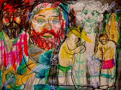Dream Of The Seth Muse (giveawayboy) Tags: trees woman man tree male men art glass pen painting tampa beard sketch seth paint artist acrylic thirdplace drawing masculine dream muse aunt wreath flannel crayon laurel sculptures toga lumberjack sculpting fch giveawayboy mancave billrogers