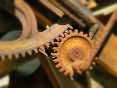 Rusted Gears (duaneschermerhorn) Tags: old mill closeup rust rustic machine gear machinery gears