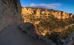"""Honey, are you sure I turn right . . ."" (John A. McCrae) Tags: arizona sunrise landscape unitedstates pentax hiking grandcanyon canyon trail southrim brightangeltrail pentaxk5"