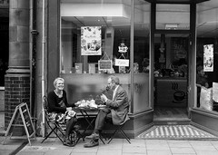Cafe couple (Allan Rostron) Tags: cafes york england yorkshire