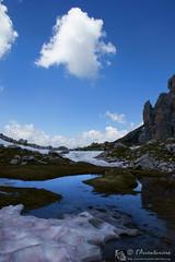 Floating (EmozionInUnClick - l'Avventuriero's photos) Tags: lago nuvola dolomitifriulane valdellinferno