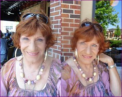 Come Join Me For Lunch Sometime (Laurette Victoria) Tags: woman mall lunch necklace redhead milwaukee earrings bayshore laurette