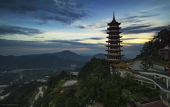 Chin Swee Temple || Genting Highland (gilbertchuachian_siong) Tags: travel building tourism architecture landscape asian temple photography asia sony relaxing dramatic explore highland malaysia genting destination bluehour interest aasia pahang samyang a6000