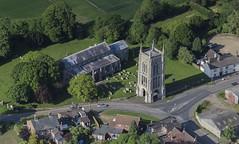 St Mary's Church in West Walton - Norfolk aerial image (John D F) Tags: church norfolk aerial aerialphotograph westwalton aerialimagesuk