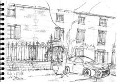 Melle, la maison du Pays Mellois (Croctoo) Tags: croctoo croctoofr croquis crayon melle poitou poitoucharentes