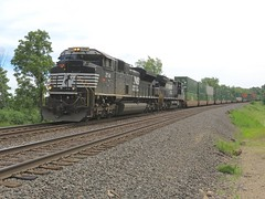 Norfolk Southern Chicago Line / MP 474 Westbound (codeeightythree) Tags: railroad ns cargo transportation freight railroadphotography stacktrain norfolksouthernrailroad otisindiana norfolksouthernchicagoline