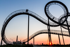 Walkable Rollercoaster (Fabian F_) Tags: sunset sun stairs germany deutschland evening abend sonnenuntergang turtle walk tiger rollercoaster sunrays duisburg rhein ruhrgebiet halde