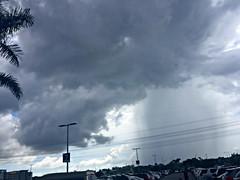 Brewing Storm (soniaadammurray - OFF) Tags: nicewonderfultuesdayclouds martesdenubes martedidinuvole clouds sky rain birds trees vehicles storm nature iphone