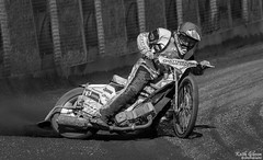 Buxton Hitmen Speedway (wiganworryer) Tags: blackandwhite bw white black monochrome bike sport race canon lens outside photography prime mono photo buxton track image photos action outdoor picture slide keith racing full motorbike dirt frame l series fixed motor dust sliding f56 gibson circuit oval hitmen motorsport speedway skid 6d 400mm 2016 skidding wiganworryer