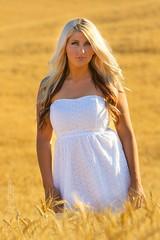 Alie (austinspace) Tags: woman portrait model spokane cheney washington wheat field farm sunset dusk magichour blond blonde