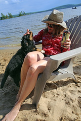7541 (Jean Arf) Tags: sandlake ontario canada summer 2106 beach lake claire scarlet bernese mountain dog