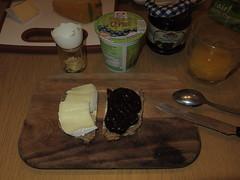 Thringer Bauernkse und Thringer Pflaumenmus (multipel_bleiben) Tags: essen frhstck kse marmelade