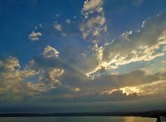 Crepuscular Rays (Richard Bougeard) Tags: jersey weather