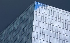 Blue Sky On Grey (Nick Fewings 4.5 Million Views) Tags: markii 7d eos canon beauty wow moment unusual surreal windows nickfewings usa illinois chicago cloud blue contrast grey angle sky glass reflection building architecture