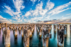 Princes Pier (Michael JIN97) Tags: princes princespier pier sky cloud wood photo photography portmelbourne melbourne victoria vic view sea australia nikon nikond800e d800e landscape scenery hdr deadman timber