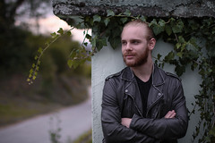 Marco (Coco Aries) Tags: canon70d 12 50mm12 nature photography outdoor portrait leather jacket man model shooting leaves autumn scene vineyard rustic germany heppenheim canoneos70d 70d 50mm marco melanie schwartz cocoaries coco aries