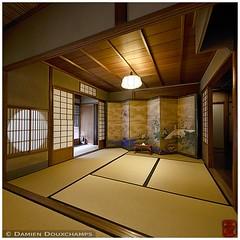 Sukiya architecture in Kodo-kan, Kyoto (Damien Douxchamps) Tags: japan  japon kansai  kinki  kyoto     central    kodokan kdkan yhisai sukiya architecture wood