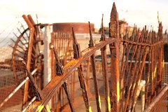 Rust Never Sleeps (geedub611) Tags: twisted bent broken fence wire spike admiraltypier dover corrosion rust steel iron