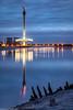 Mersey Gateway tower (1 of 1) (andyyoung37) Tags: england fiddlersferrypowerstation merseygatewaycrossing reflections runcorn sunkenboat uk wiggisland cheshire constructioncranes rivermersey sunset unitedkingdom gb