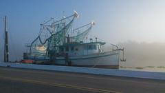Shrimp Boat at Golden Meadow, Louisiana (Shane Adams Photography) Tags: fog boat nokia louisiana seawall smartphone bayou shrimpboat lafourcheparish goldenmeadow ilobsterit lumia1020
