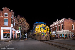 CSX in La Grange, KY at Night